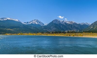 Twin Lakes on a Sunny Day Timelapse - Twin Lakes - Lake...