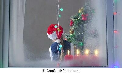 Santa Claus presenting gifts