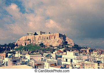 The Parfenon, the Acropolis of Athens, Greece