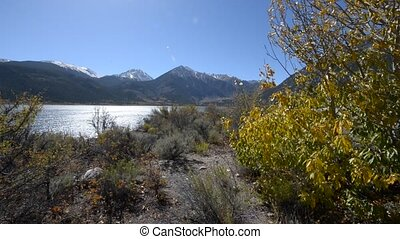 Fall Foliage Twin Lakes Sunny Day - Twin Lakes - Lake County...