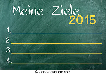 2015 goals ,german - My Goals for 2015 in German , Business...