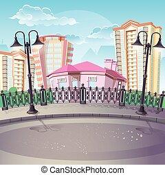 Image of City Quay with lanterns