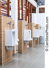 Urinals in public toilets