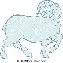 Ram  - Blue Ram/sheep - symbol of year 2015