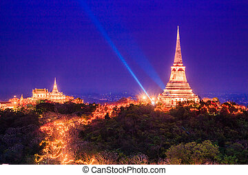 Twilight light Evening light Phra Nakhon Khiri Phetchaburi,...