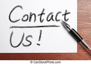 "Contact Us - "" Contact Us "" Concept written on white..."