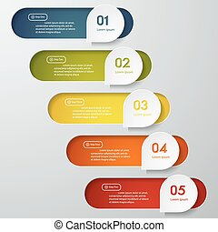 Design clean number banners vector - Design clean number...