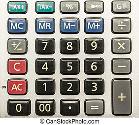 calculator pad - numpad of calculator