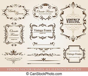 Different vintage frames - Collection of different vintage...