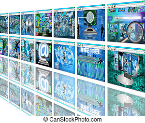 wall sites - Many abstract images on the theme of computers,...