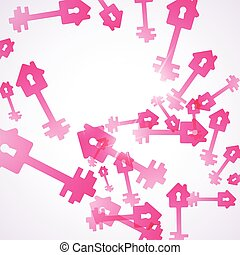 abstract background: key