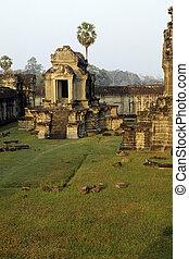 Angkor Wat, Cambodia - Architectural detail of Angkor Wat, a...