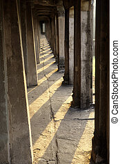 Angkor Wat- Cambodia - Galleried temple surrounding the 12th...