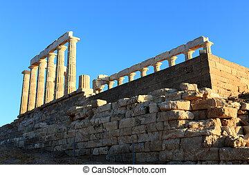 capa, Templo,  Poseidon,  Sounion, Grécia