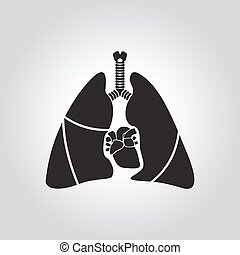 Heart and lung symbol - Heart lung symbol