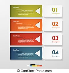 Design clean number banners. vector - Design clean number...