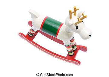 Miniature Wooden Reindeer