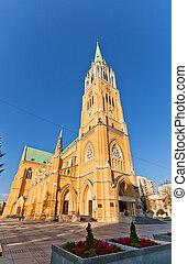Cathedral Basilica of St Stanislaus Kostka 1912 in Lodz,...