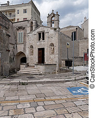 church of San Biagio Matera Italy - old town of Matera Italy