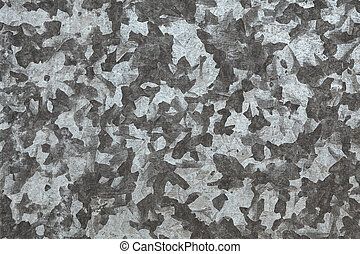 The zinced surface of a steel sheet - The zinc-coated gray...