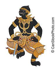 Wimolwanorn, one of monkey character in Ramayana Story...