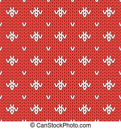 Knitted pattern seamless background Vector - Knitted holiday...