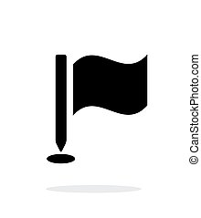 Golf flag icon on white background Vector illustration