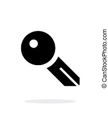 Key blank icon on white background Vector illustration