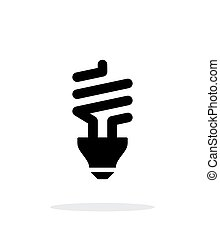 CFL bulb icon on white background. - CFL bulb simple icon on...