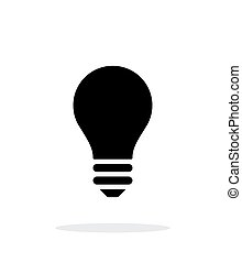 Light bulb icon on white background - Bulb icon on white...