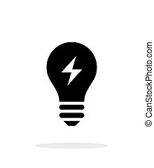 Electric light icon on white background - Electric light...