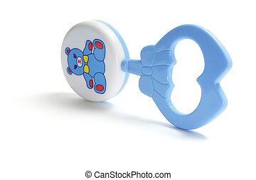 Baby Rattle on Isolated White Background