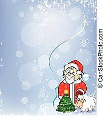 Santa Claus with Lamb