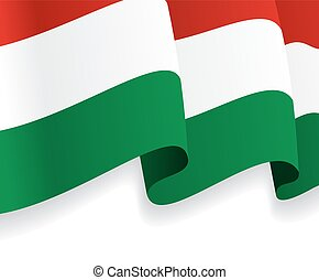 Background with waving Hungarian Flag Vector illustration