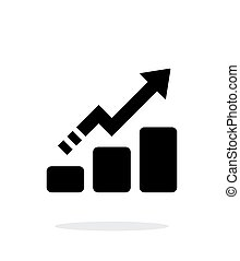 Line chart up icon on white background Vector illustration