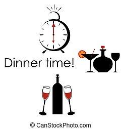 Time for dinner.
