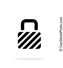 Padlock icon on white background.