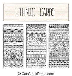 Tribal texture. Template frame design for card.
