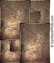 Template copper metallic plates. Template
