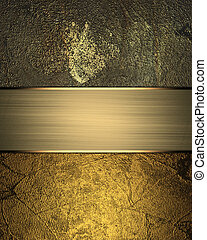 Metal texture and gold with a sign Template