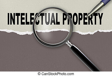 intelectual property - word intelectual property and...