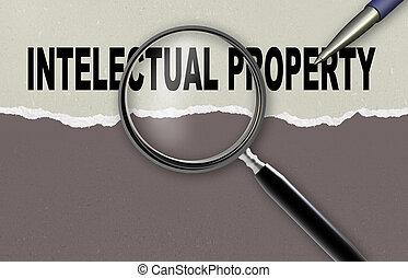 intelectual property - word intelectual property and...