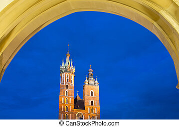 Saint Marys church in Krakow, Poland