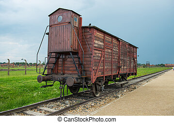 Holocaust Death Camp cattle car train from Nazi Germany...