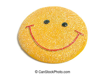 Smiley Fridge Magnet on White Background