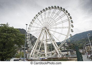 Ferris wheel at the fair in Andorra La Vella