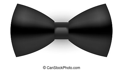 Semi-realistic black bow tie wedding formal wear