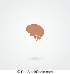 Simple minimalistic brain icon abstract medicine design