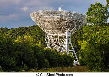 Radio Telescope Effelsberg in Germany with a diameter of 100...