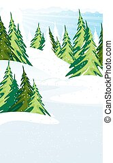 Snow covered pine forest - Snow Covered Pine Trees Winter...